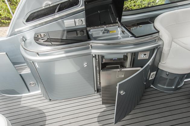 Die Wetbar, ein Muss auf einem Boot aus den USA. Foto: Dieter Wanke