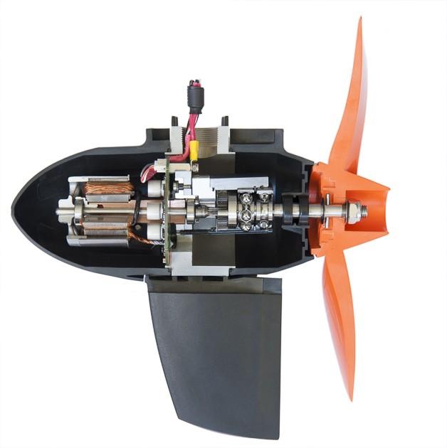 Hightech-Quirl: Bürstenloser Motor, digitale Schaltung, drehmoment-steigerndes Getriebe und effizienter Propeller