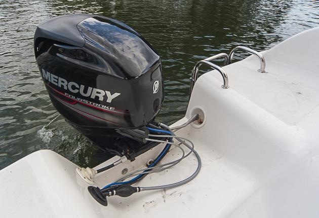 Genug, nicht zu viel: Mit 50 PS fährt sich das Boot schon gut, doch zum Sprint sind mehr PS gefragt. Foto: Dieter Wanke