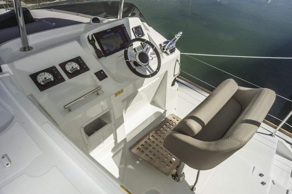 Luftig: Vom erhöhten Arbeitsplatz hat der skipper beste Rundumsicht. Foto: boats.com/Wanke