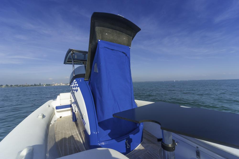 Interssantes Zubehör ist die Umkleidekabine aus Tuch.  Foto: boats.com/Wanke