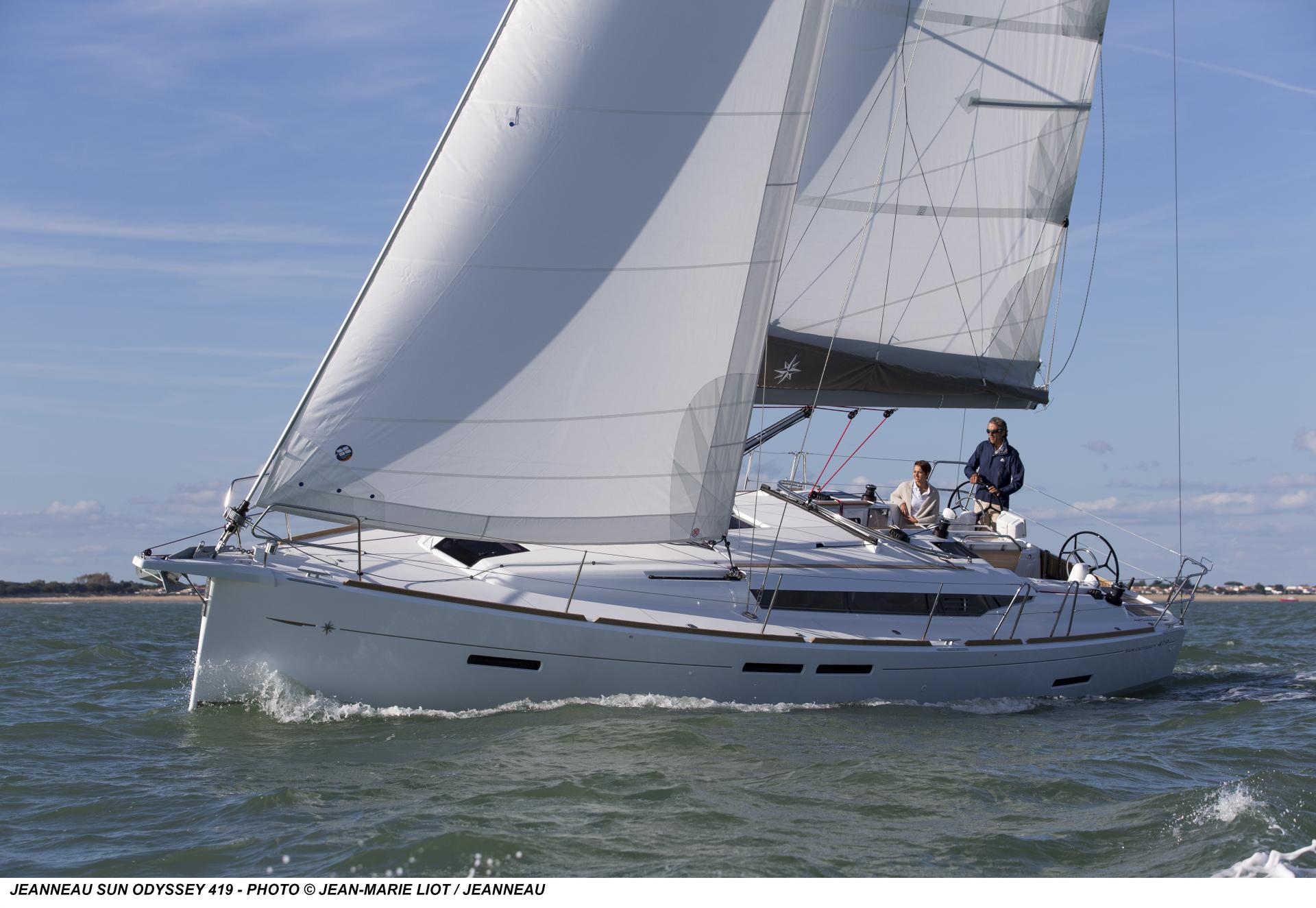 Gut betucht: Mit Lattengroß und 106-Prozent-Genua segelt die SO 419 hoch am Wind.