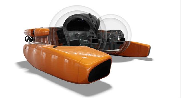 Triton U-Boote können bis zu 11 km tief tauchen und werden mit Supportschiffen ausgeliefert
