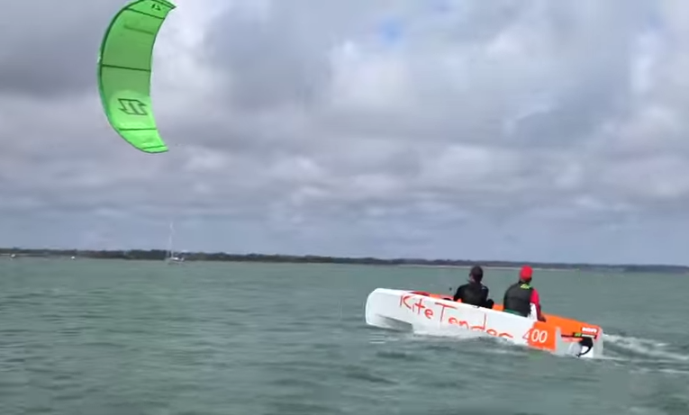 Kite Tender beim  Testen