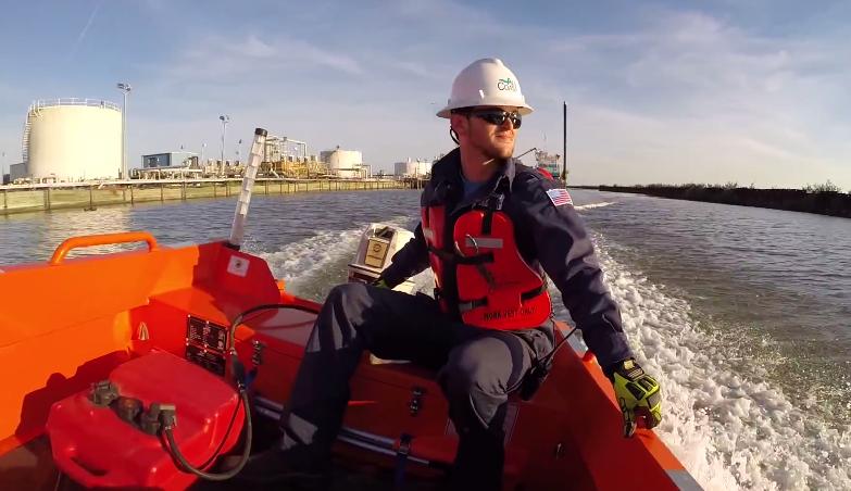 Das neue Rettungsboot am Beginn der Testfahrt