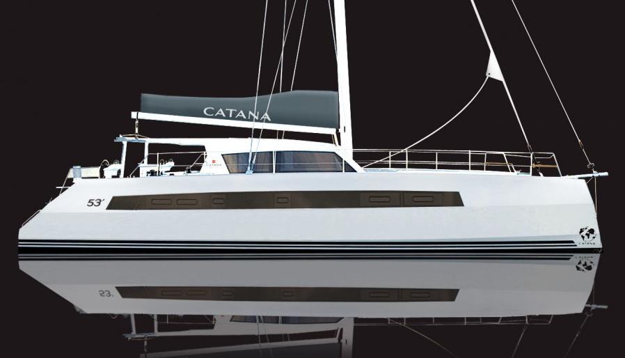Catana 53: Klare Linien mit Wavepierder-Bug.  aber doch den Wurzeln treu mit Steuerständen an Deck