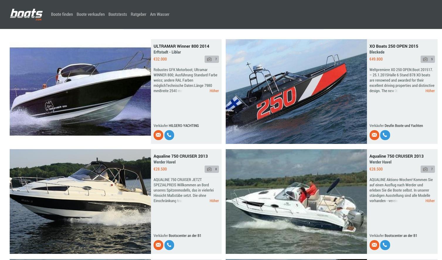 Die Bootssuche online ist schnell und bequem, ersetzt aber nicht die Inspektion und den direkten Kontakt mit dem Verkäufer.