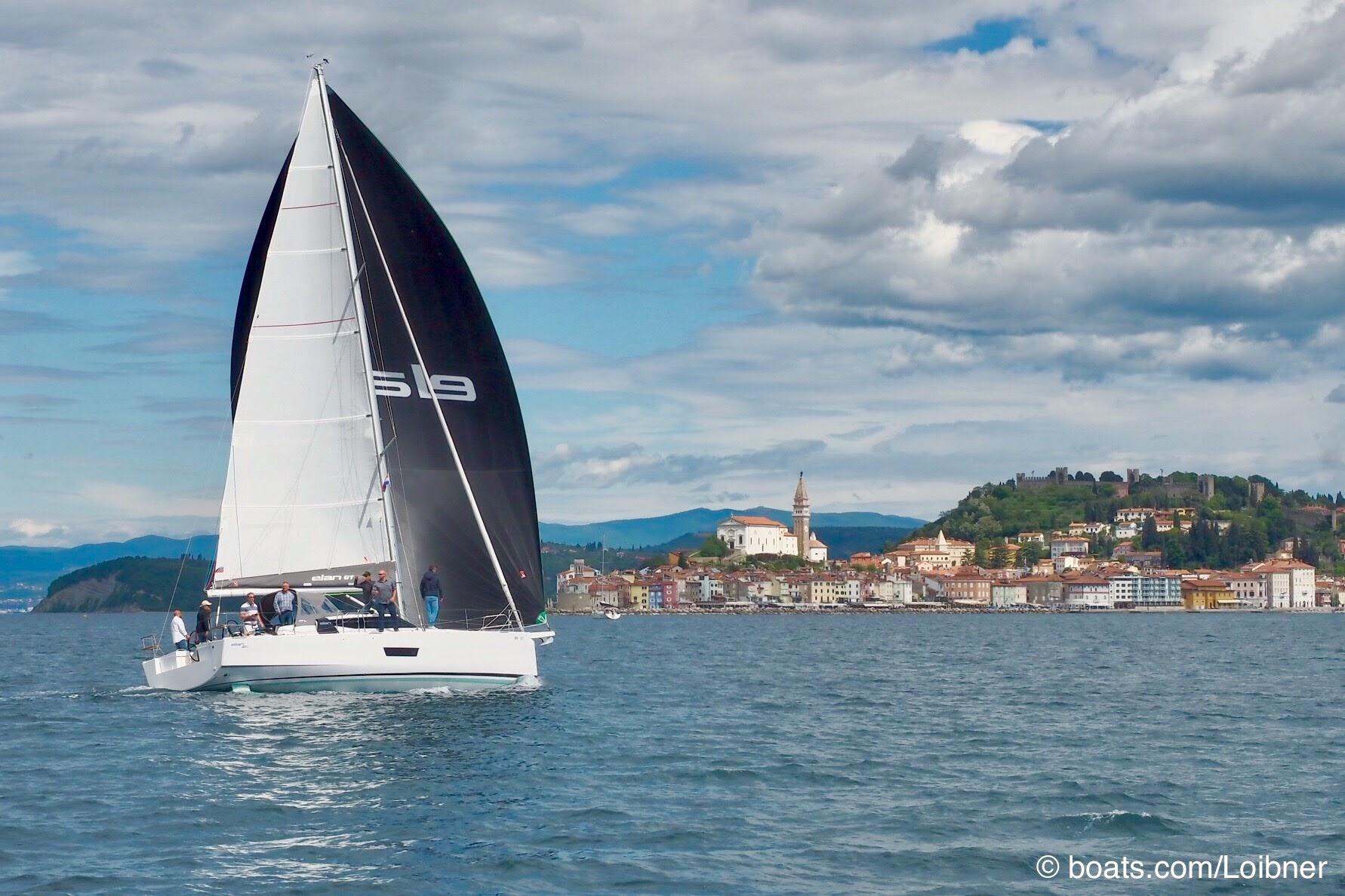 Die Elan GT5 bei Testfahrten vor Portoroz, Slowenien