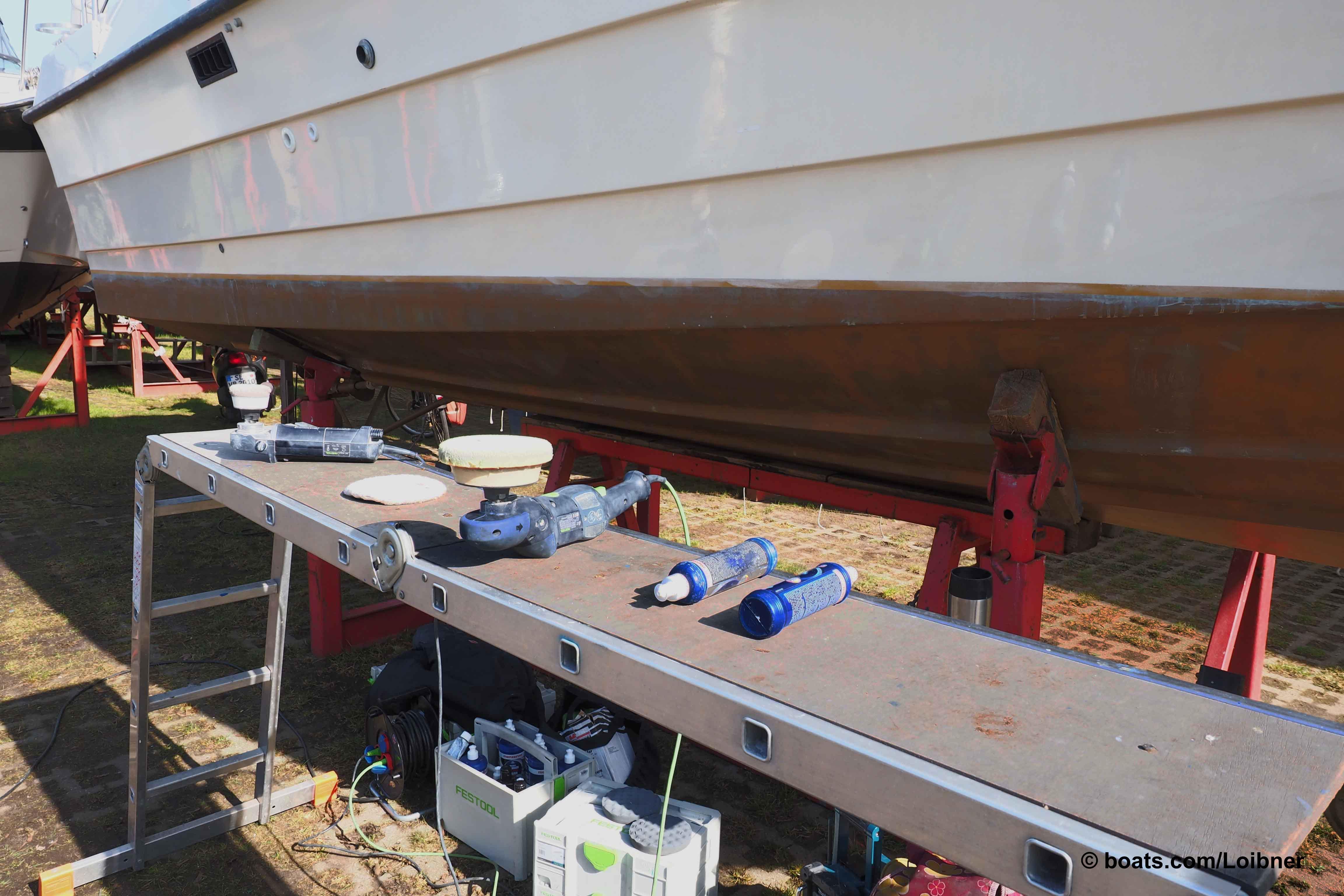 Werkzeug und Polituren für ein schöneres Äußeres. Foto: boats.com/Loibner