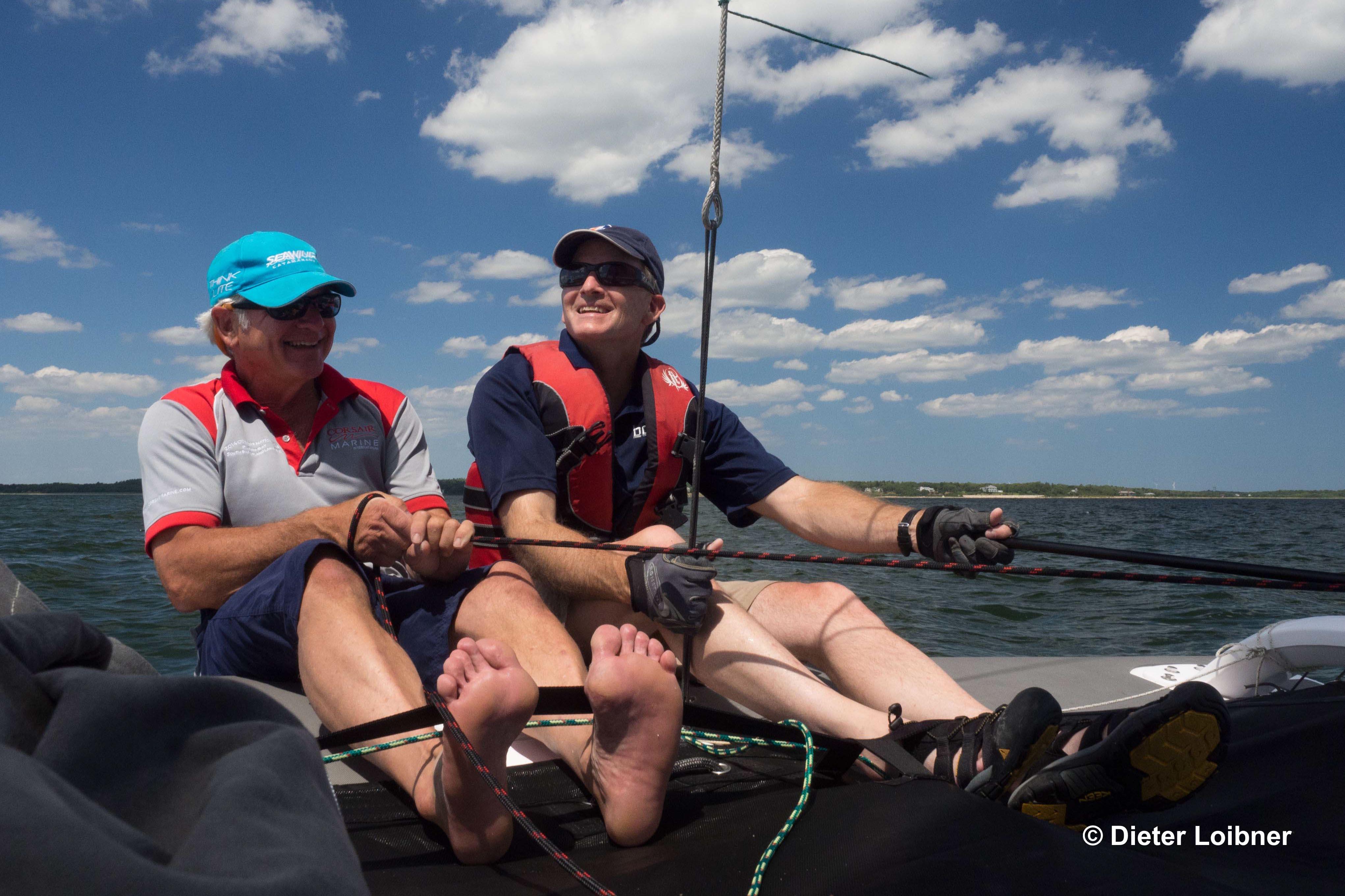 Gurte statt Trapez: Wer möchte, kann den Pulse auch sehr sportlich segeln.  Foto: Dieter Loibner