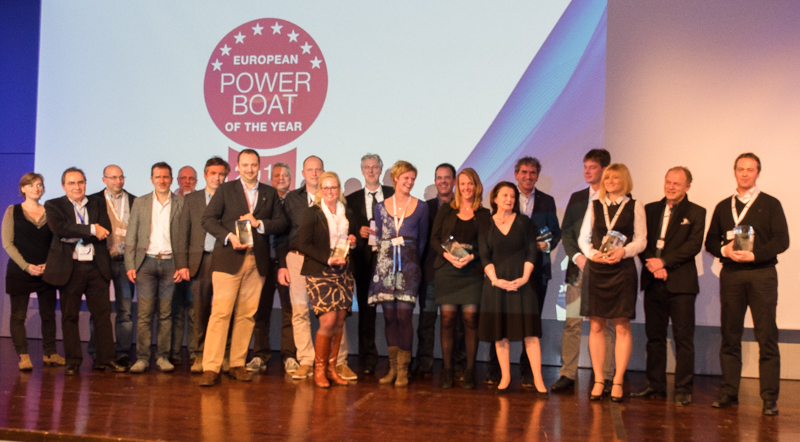 Die Vertreter der siegreichen Werften der PBOTY Awards