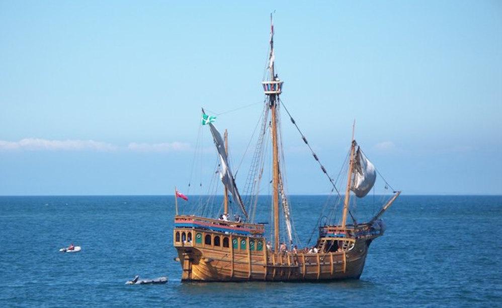 Die Nachbildung der Mathew, das erste englische Schiff, das die Ostküste Nordamerikas anlief. Foto: Mike Edwards / www.geograph.org.uk