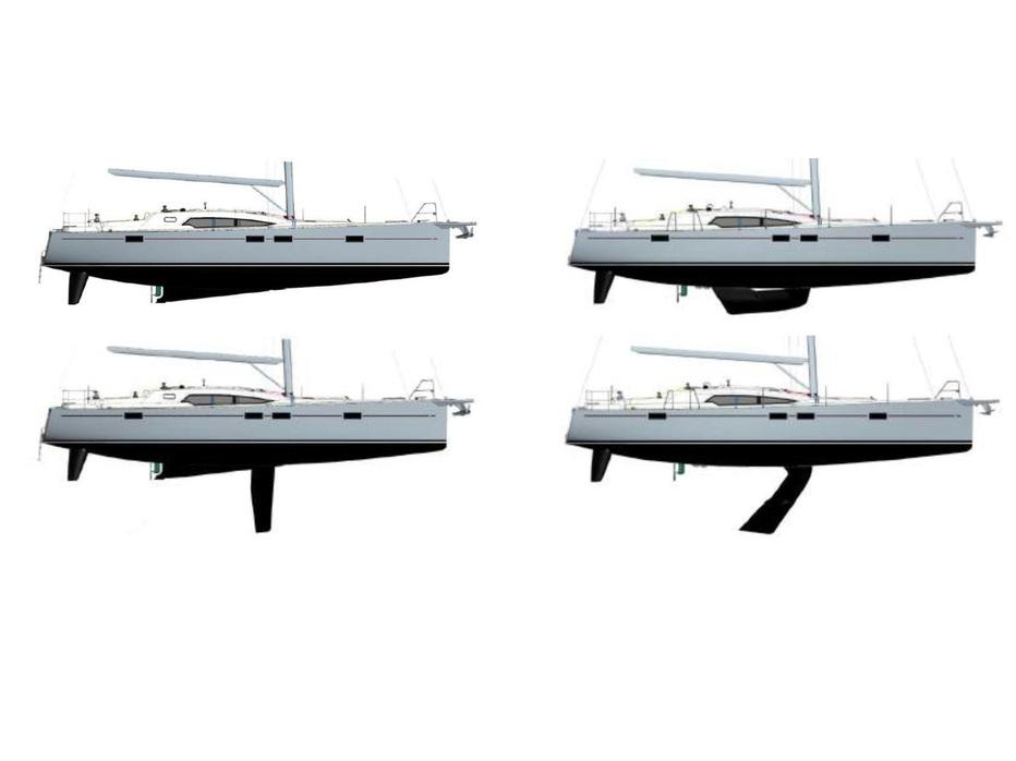 Zwei Versionen: Kielschwert (l.) und Schwenkkiel