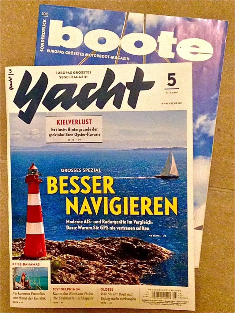 Zwei Wassersportmagazine des Klasing-Verlags