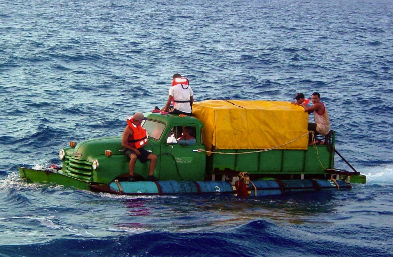 Dieser alte Chevy-Truck schwamm mal von Kuba Richtung Florida
