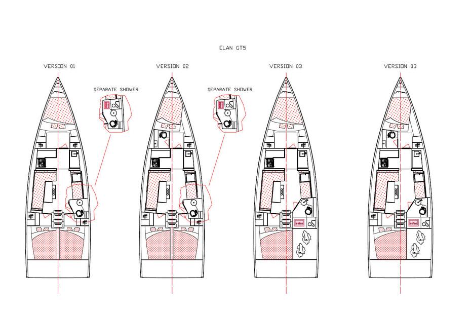 4 Varianten stehen für den Innenausbau zur Wahl