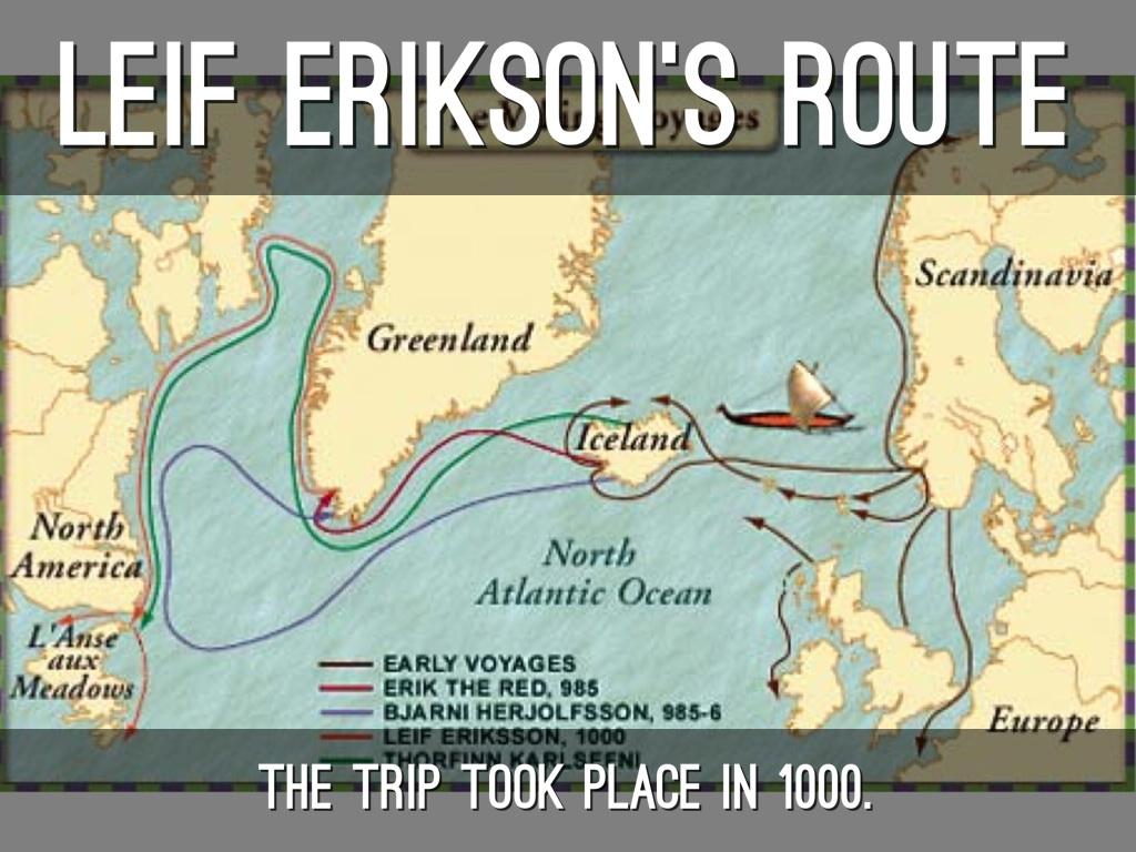 Die mutmaßliche route Leif Eriksons. Karte: www.haikudeck.com