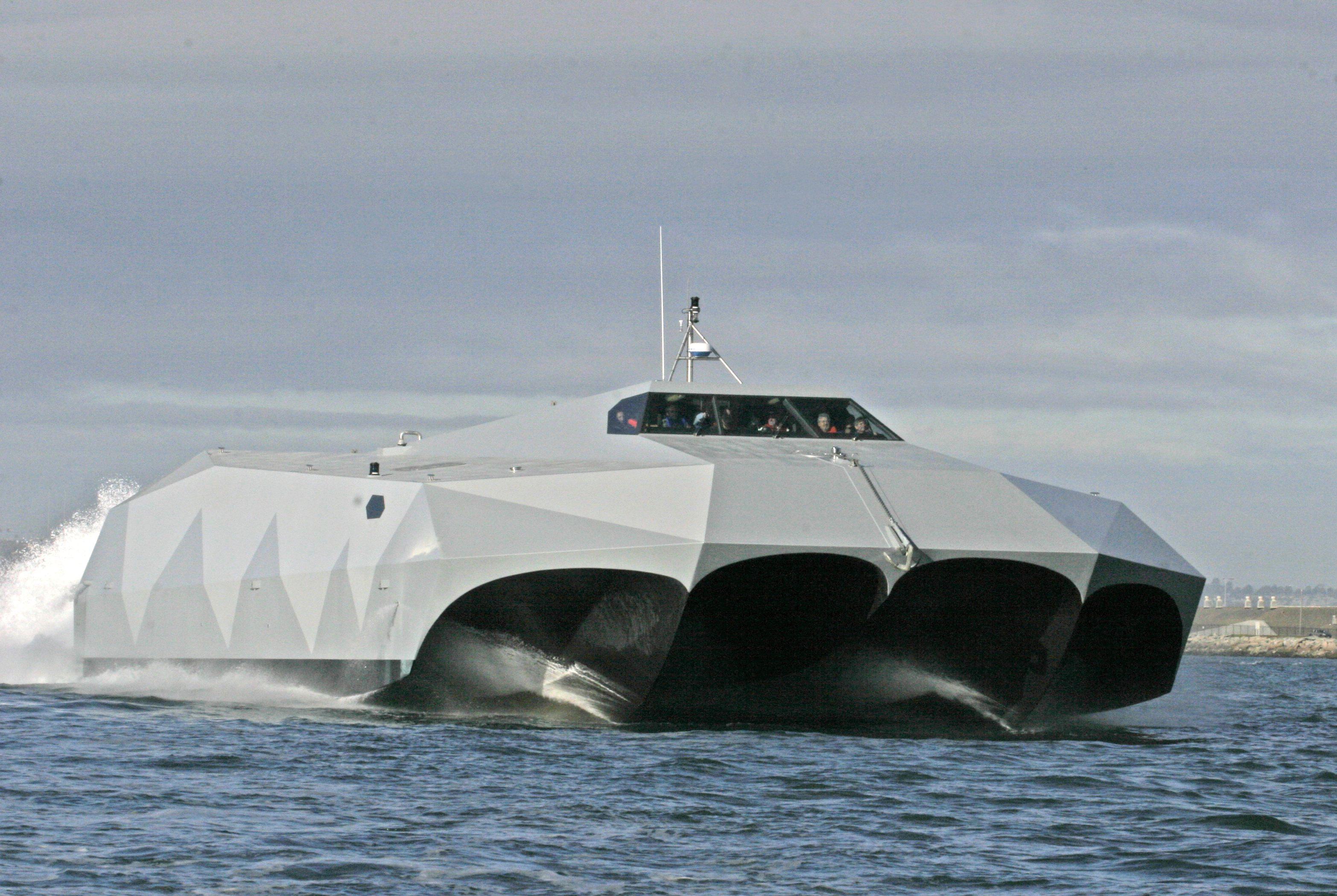 M wie Martialisch: M-Hull in einem Testschiff der US-Streitkräfte. Foto: Bob Grieser